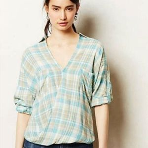 Anthropologie Holding Horses Wildacre Plaid Top